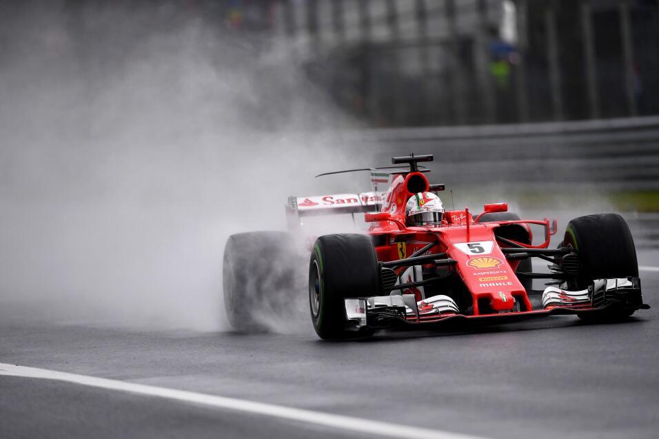 8. Sebastian Vettel (Ferrari) - Mejor tiempo: 1:36.223 / 28 vueltas