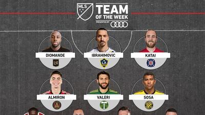 Miguel Almirón y Diego Valeri acompañan a Zlatan en el Equipo de la Semana 18 de la MLS