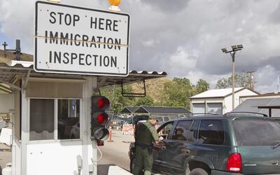 Retén de inmigración en Jamul, en el este del condado de S...