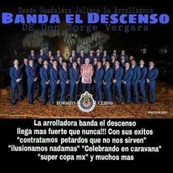 El dueño de Chivas, Jorge Vergara, presumió la foto de su equipo en la B...