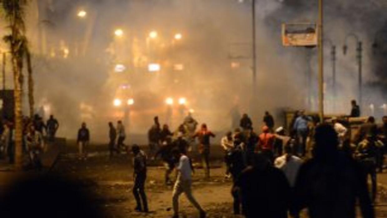 Los enfrentamientos estallaron durante la conmemoración del segundo aniv...