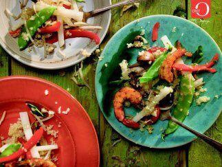 Ensalada de quinoa: La quinoa es uno de los granos que aporta más...