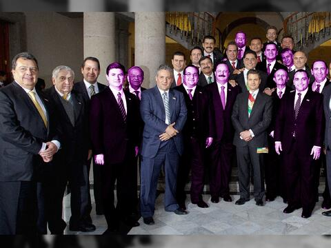 The Mexican governors facing corruption allegation are highlighted in th...