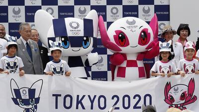 En fotos: Miraitowa y Someity, las mascotas de Tokio 2020
