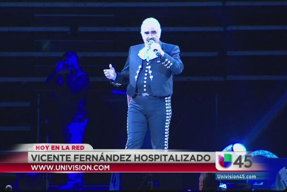 Vicente Fernández fue hospitalizado esta semana por una trombosis pulmon...