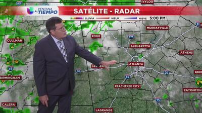Cielos nublados y lluvias cerca de Atlanta