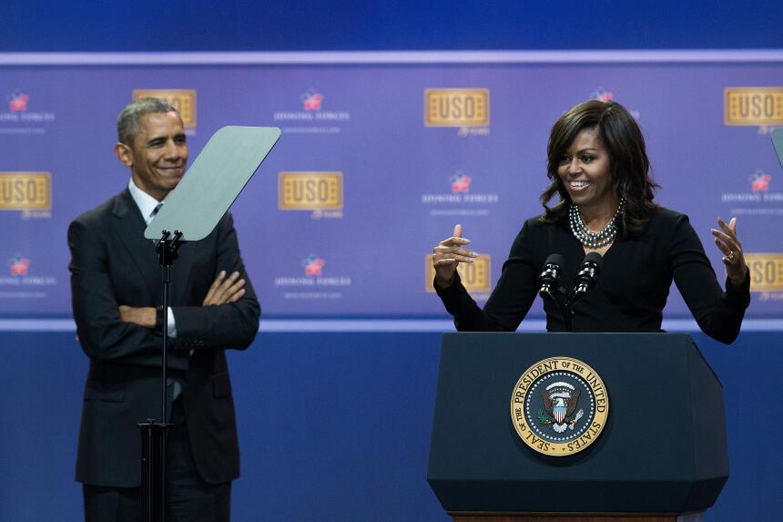 Michelle y Barack Obama: los amantes de la Casa Blanca GettyImages-52852...