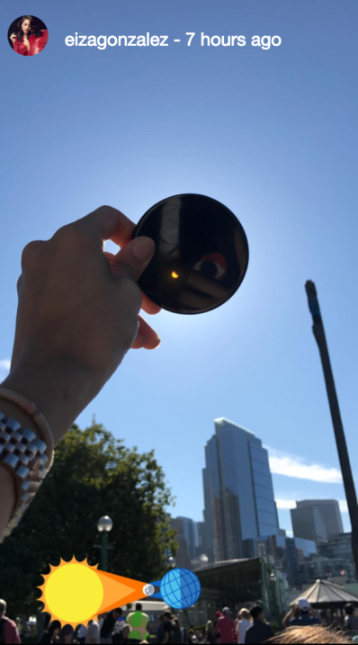 Eclipse solar celebridades