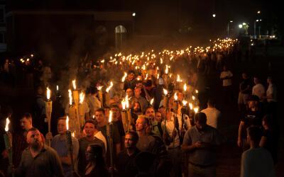 Marcha de supremacistas blancos en Charlottesville, Virginia.