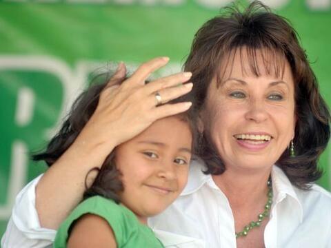 La ahora ex primera dama de Guatemala, Sandra Torres, que despejó...