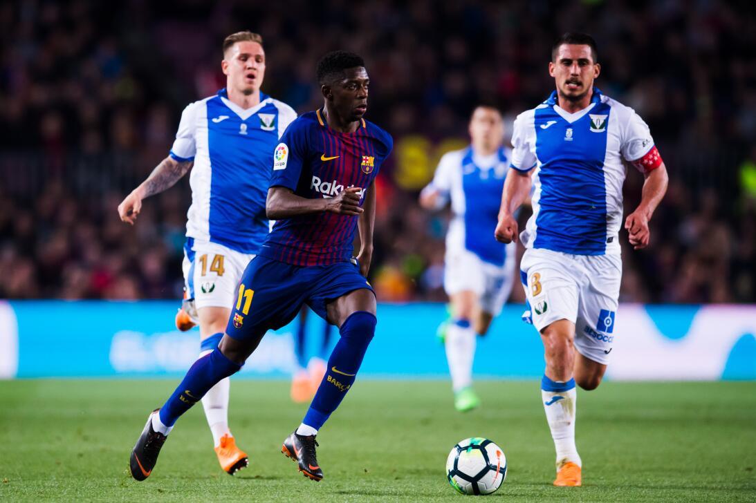 En fotos: Barcelona de récord con triplete de Messi gettyimages-94312171...