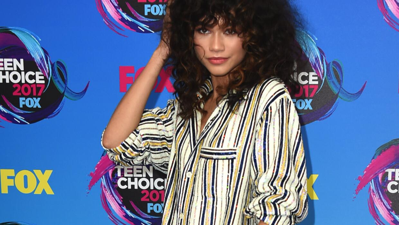 La cantante Zendaya asitió a los premios Teen Choice en lo que pa...