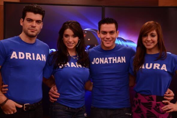 Adrián y Shanik viven en Miami, Jonathan en Houston y Laura en Puerto Rico.
