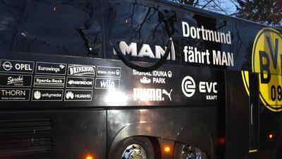 Así quedó el bus del Dortmund tras la explosión que causó conmoción en el fútbol mundial