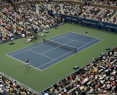 Azul, el color oficial...En el 2005, la Asociación de Tenis de EU (USTA)...