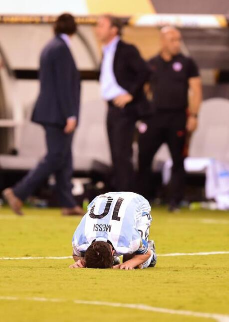 After the match, Messi hinted that he wouldn't return to play for Argent...