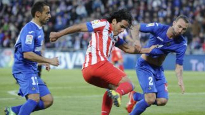 Ni el 'Tigre' Falcao pudo abrir el marcador en este duelo madrileño.