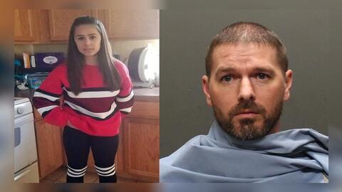 Jayden Glomb, la menor asesinada y el sospechoso, su padrastro, Joshua L...