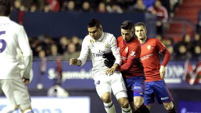 Real Madrid sufrió en Pamplona ante el Osasuna, pero se mantuvo como líder de La Liga