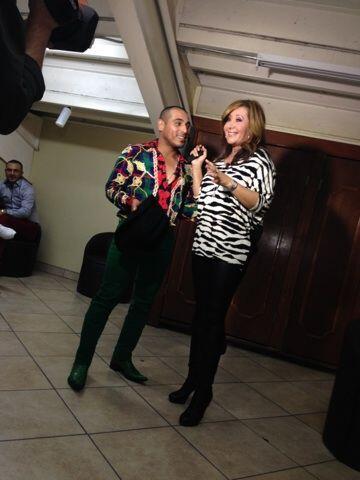 Jessica Maldonado acompañó a Espinoza Paz a un palenque en Mexicali, Baj...
