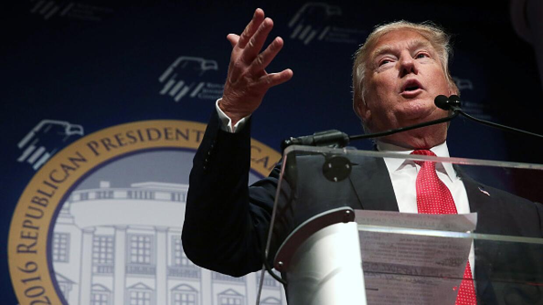 Candidato republicano Donald Trump