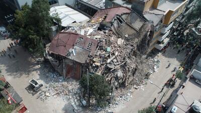 Fotografías aéreas: la devastación que dejó el terremoto sobre la Ciudad de México