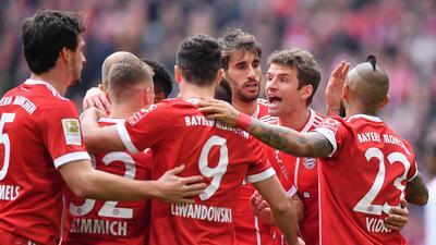 En fotos: un arrollador Bayern Munich goleó 6-0 al Hamburgo previo a su duelo en Champions