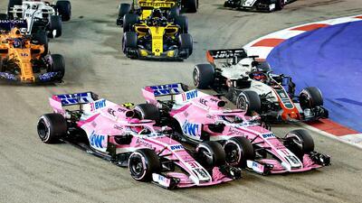 Sergio Pérez 'jugó' a los carros chocones en el GP de Singapur: así fueron sus dos accidentes