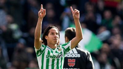 Diego Lainez entró en la lista de debutantes más jóvenes de La Liga
