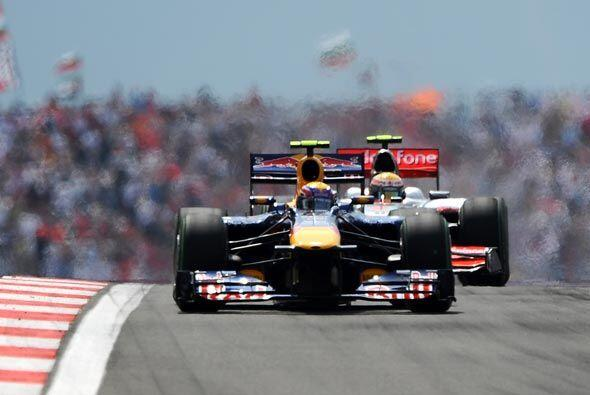 Webber tenía totalmente dominada la carrera y parecía encaminado a su te...