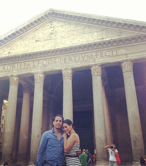 """""""Con mi amor en Roma"""", contó Ana Patricia González. (Agosto 4, 2013)"""
