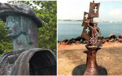 Problemática estatua de Colón en Puerto Rico
