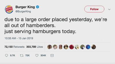 Burguer King se burla de error de Trump: 'hamberders'