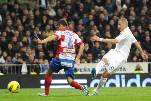 Karim Benzema marcó su 'doblete' y puso las cosas 4 a 1.