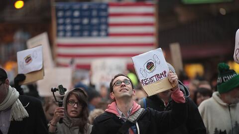 Manifestantes en Chicago, una 'ciudad santuario', marcharon en c...