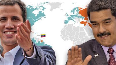 ¿Quiénes apoyan a Juan Guaidó y Nicolás Maduro dentro y fuera de Venezuela?