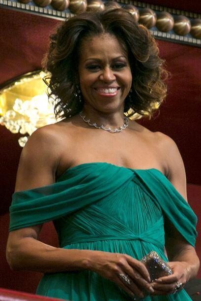 Michelle Obama es otra de las famosas que puso como ejemplo su melena, ¿...