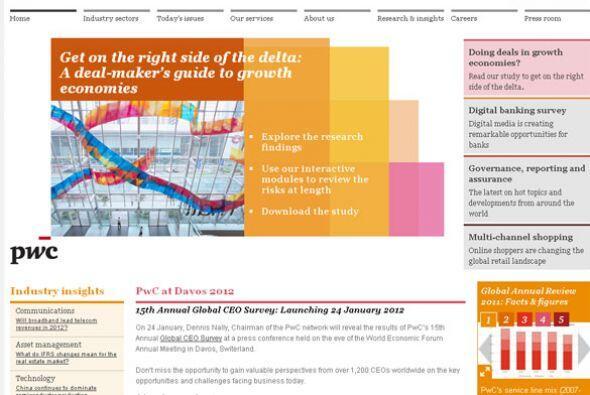 10. PRICEWATERHOUSECOOPERS- Poco más de 2,200 puestos de trabajo, sólo e...