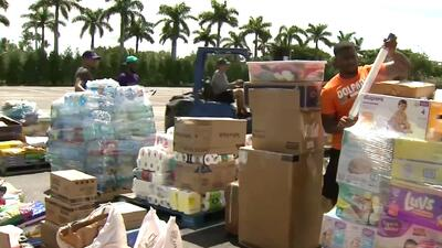 Sale hacia Houston el primer cargamento de donaciones recolectadas por Miami Dolphins