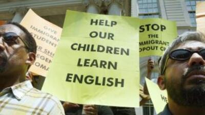 """Los estudiantes que están aprendiendo inglés """"continúan mostrando una de..."""