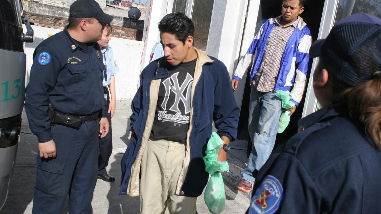 Un migrante centroamericano es detenido en México (archivo)