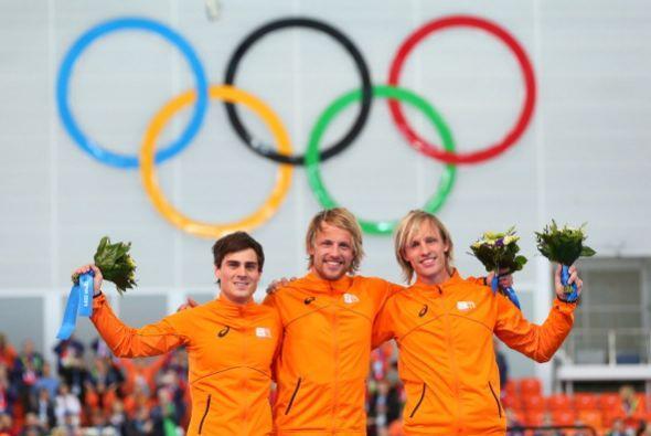 Los holandeses han dominado la prueba de cinco kilómetros en pati...