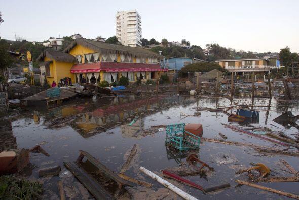 Aspecto en una barriada en la localidad costera de Concón.