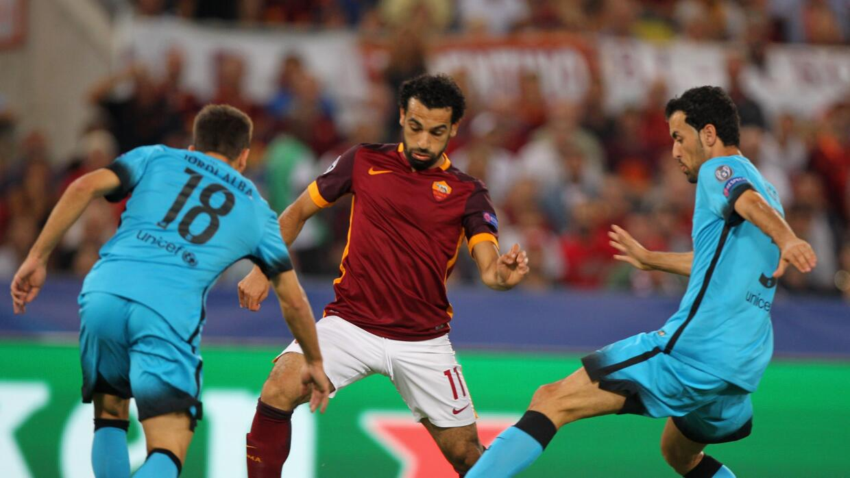 La Roma empató 1-1 con Barcelona
