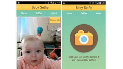 """Con eesta app los bebes podrán tomarse sus propias """"selfies""""."""