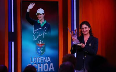Lorena Ochoa fue inducida al Salón de la Fama del Golf.