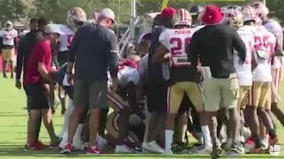 ¡Otra pelea en la NFL! DeAndre Hopkins casi le arranca la cabeza a un jugador de Redskins