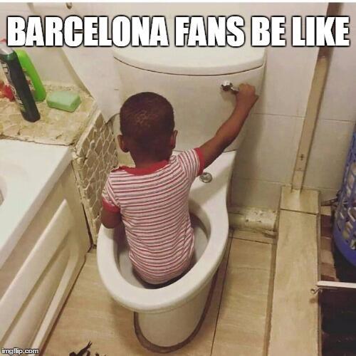 Los fans se burlan de la eliminación del Barcelona de la Champions