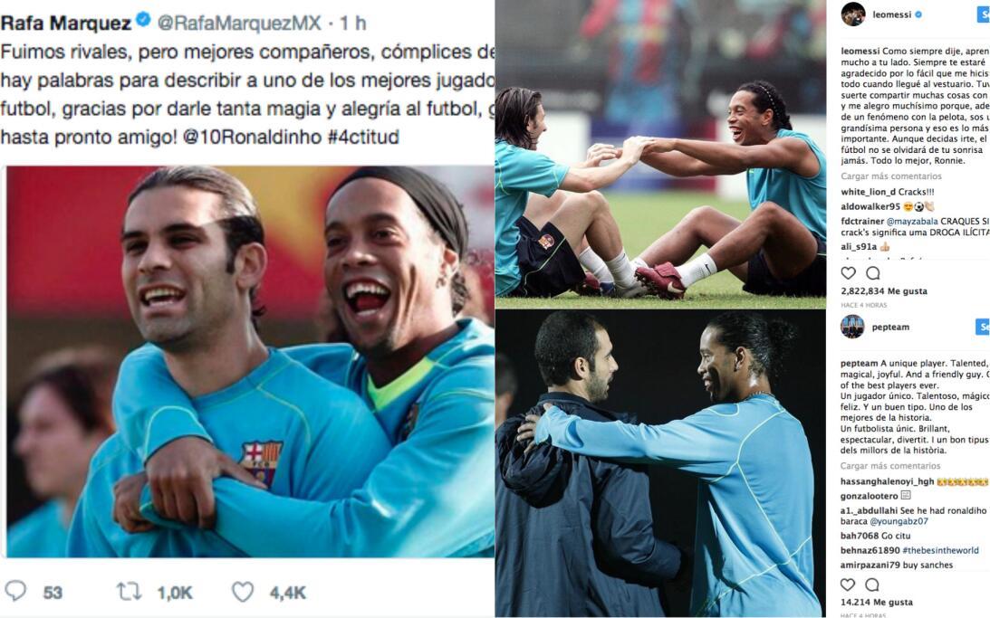 'Hasta pronto amigo': el mensaje de Rafa Márquez y otros grandes del fút...