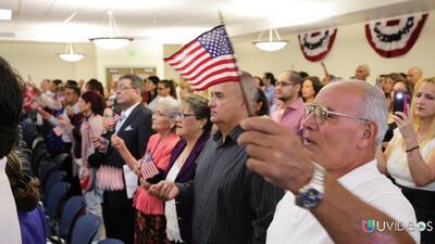 Una ceremonia de ciudadanía en la intimidad